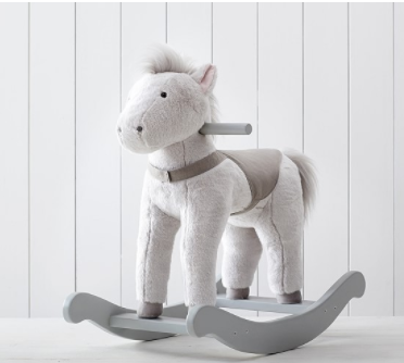 MONIQUE LHUILLIER NURSERY HORSE PLUSH ROCKER