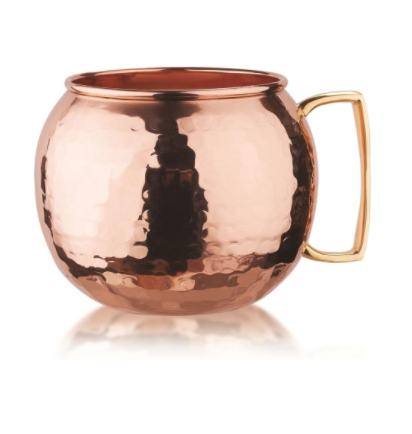 OLD DUTCH INTERNATIONAL HAMMERED SOLID COPPER GLOBE MOSCOW MULE MUGS - SET OF 4