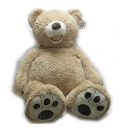 "GIANT 53"" LUXURY PLUSH EXTRA LARGE TEDDY BEAR - LIGHT GOLDEN BROWN/SANDY BY HUGFUN"