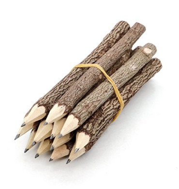 GRAPHITE WOODEN TREE PENCILS TWIG PENCILS BRANCH OF 12-PACK APPROXIMATELY 5 INCHES LONG
