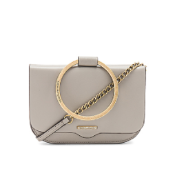 REBECCA MINKOFF RING CROSSBODY IN TAUPE