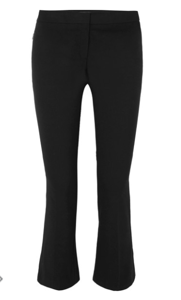 THEORY - STRETCH COTTON-BLEND FLARED PANTS - BLACK