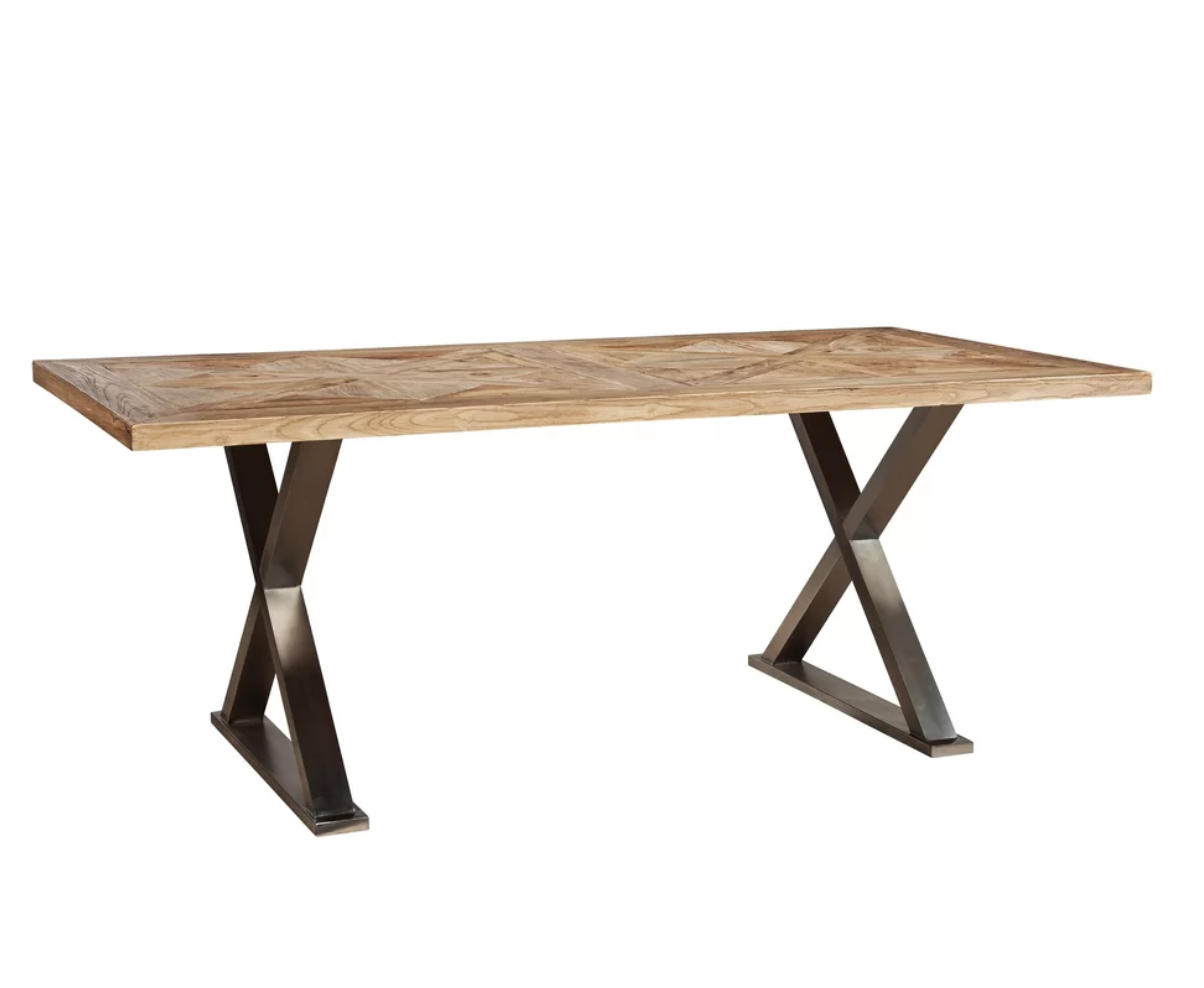 STAINLESS CROSS LEG DINING TABLE