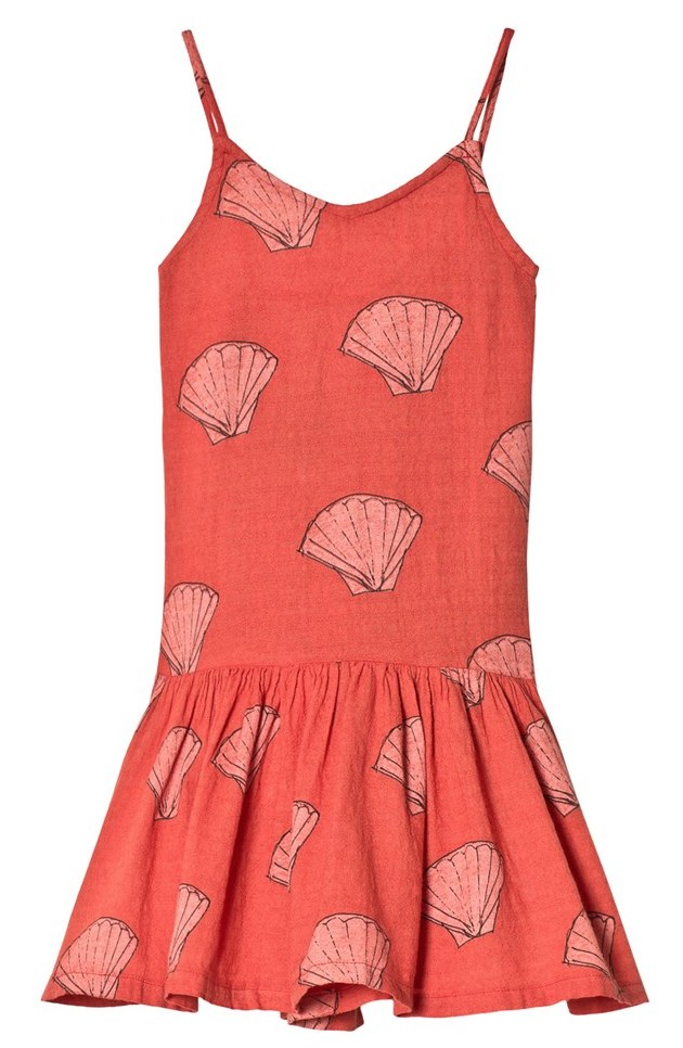 RED SHELLS MOUSE KIDS DRESS