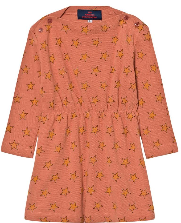 ORANGE STAR PRINT DRESS
