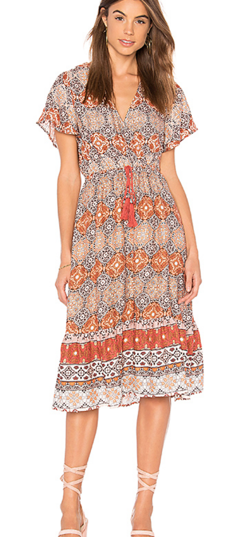 MINKPINK DAYS IN MARRAKESH MIDI DRESS IN MULTI