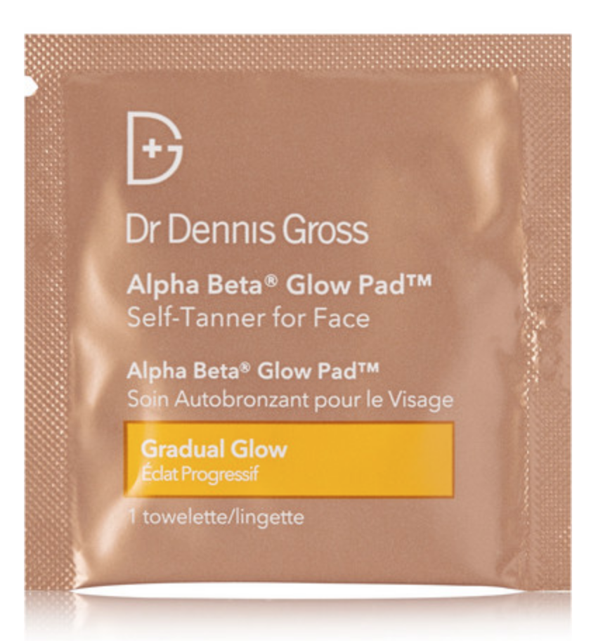 DR. DENNIS GROSS SKINCARE - ALPHA BETA GLOW PAD SELF-TANNER FOR FACE, 20 X 2.2ML - COLORLESS