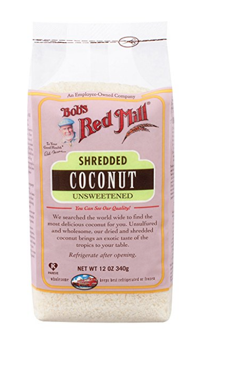 BOB'S RED MILL SHREDDED COCONUT, UNSWEETENED, 12 OZ