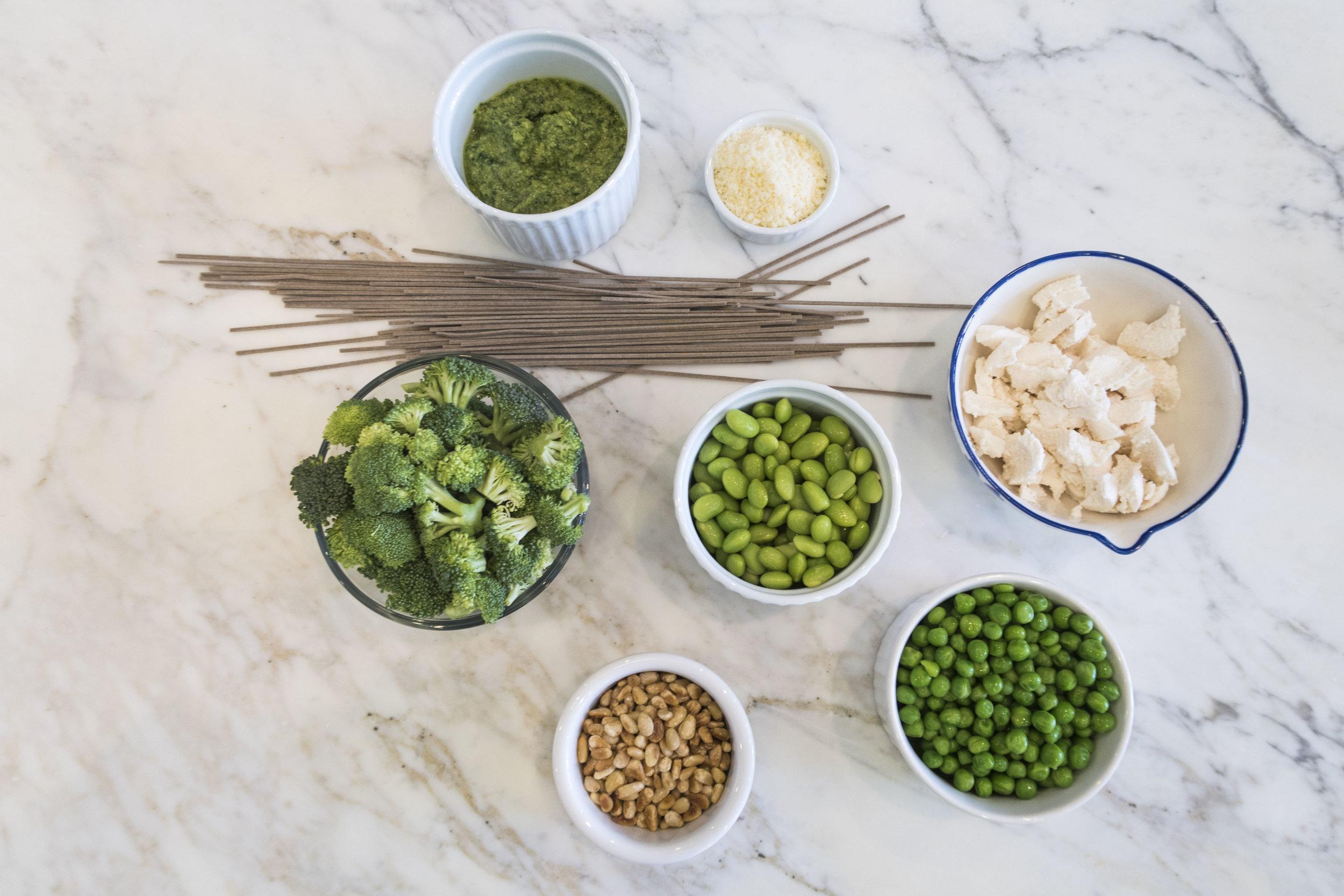 Spring Veggies Soba Noodles