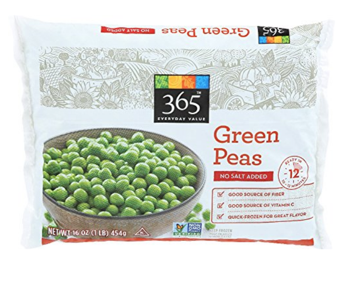365 EVERYDAY VALUE, GREEN PEAS NO SALT ADDED, 16 OZ, (FROZEN): AMAZON.COM