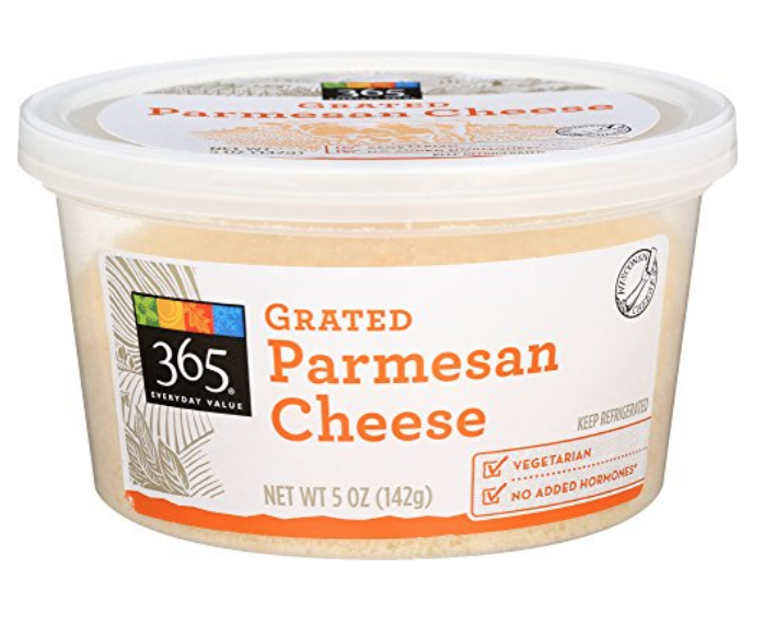 365 EVERYDAY VALUE, GRATED PARMESAN CHEESE, 5 OZ: AMAZON.COM