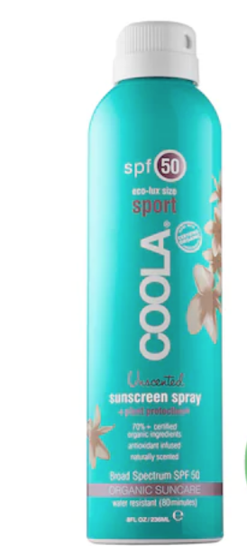 SPORT CONTINUOUS SPRAY SPF 50 - UNSCENTED - COOLA | SEPHORA