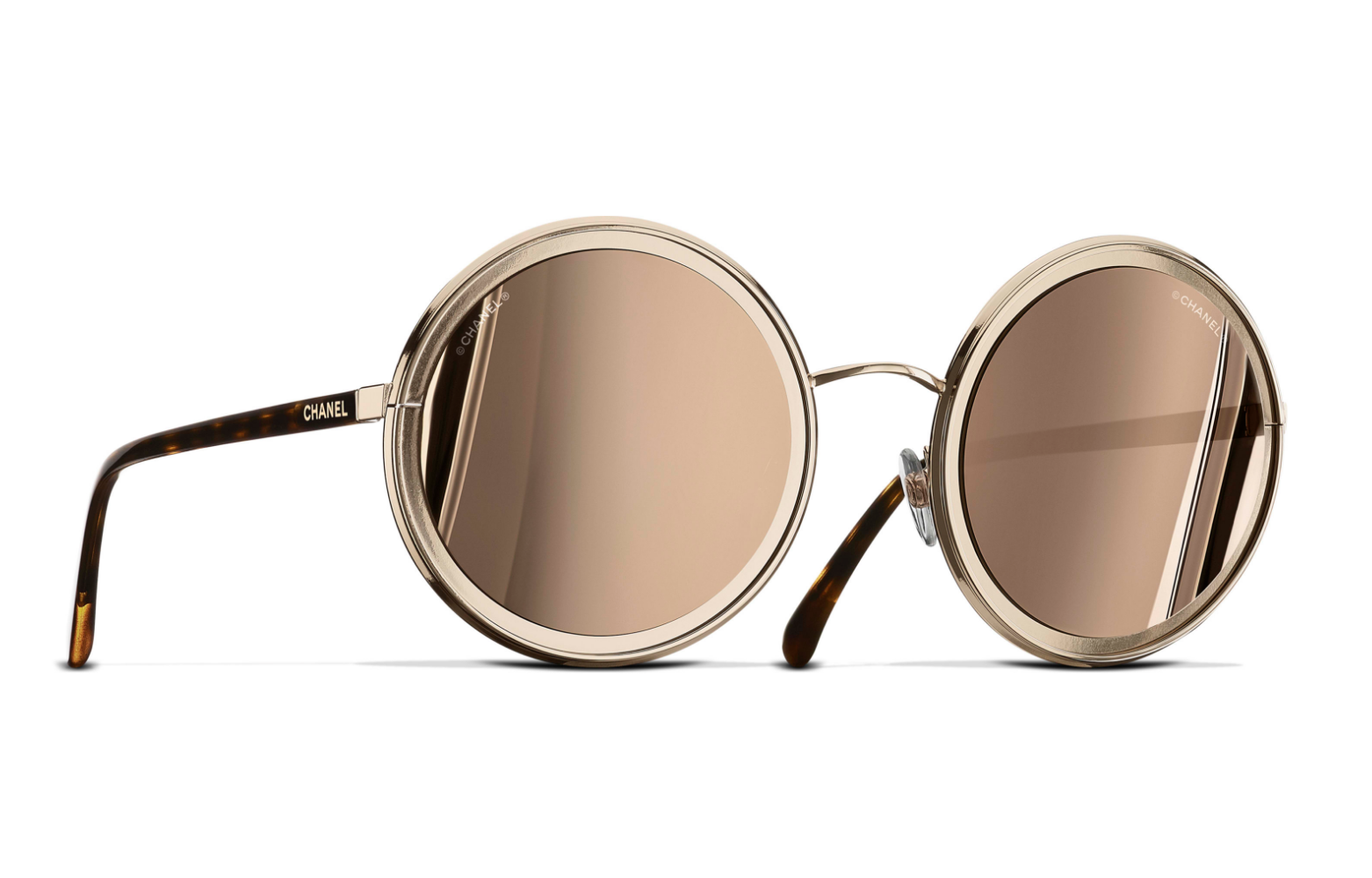 ROUND SUNGLASSES GOLD EYEWEAR | CHANEL