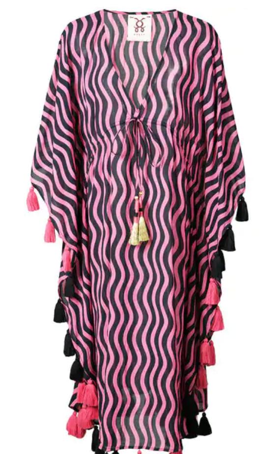 FIGUE AMRITA KAFTAN DRESS - PINK & PURPLE