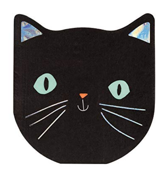 MERI MERI SPOOKY BLACK CAT NAPKINS (SMALL)