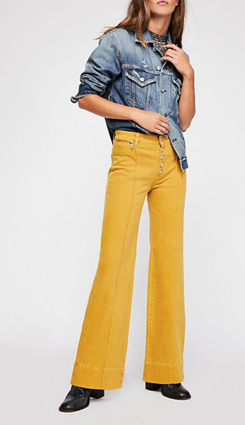 RUN WITH ME PINTUCK FLARE JEANS