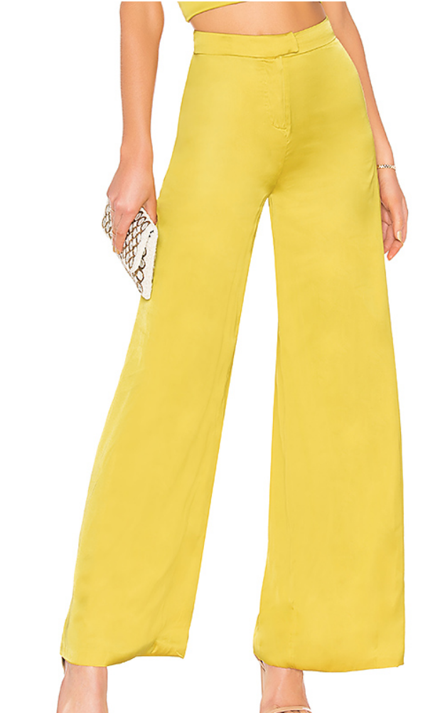 LOVERS + FRIENDS VIV PANT IN CHARTREUSE GREEN