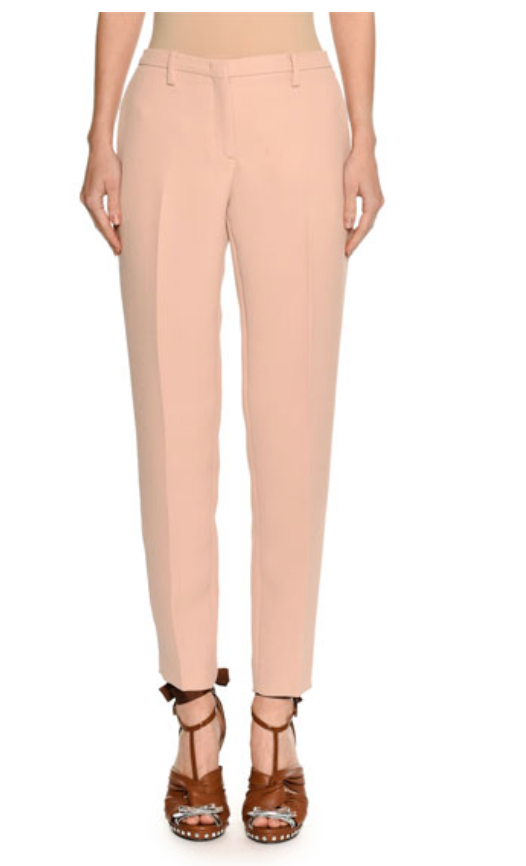 NO. 21 MID-RISE SKINNY CREPE TROUSERS