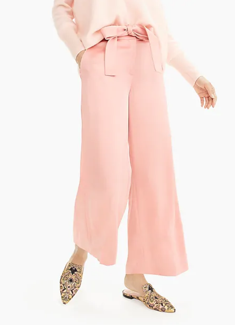 COLLECTION FULL-LENGTH WIDE-LEG PANT IN SATIN CREPE