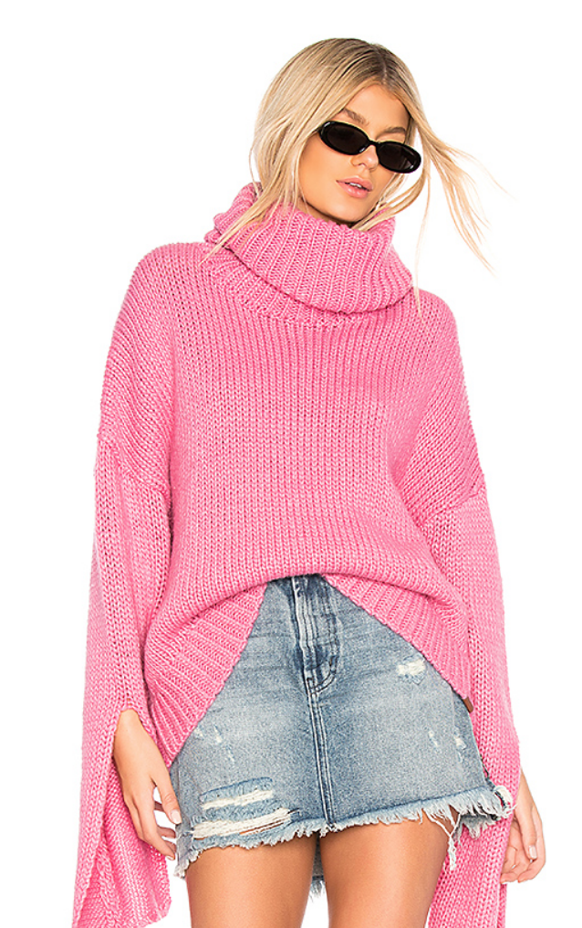 ONE TEASPOON WINONA KEYHOLE SWEATER IN PINK