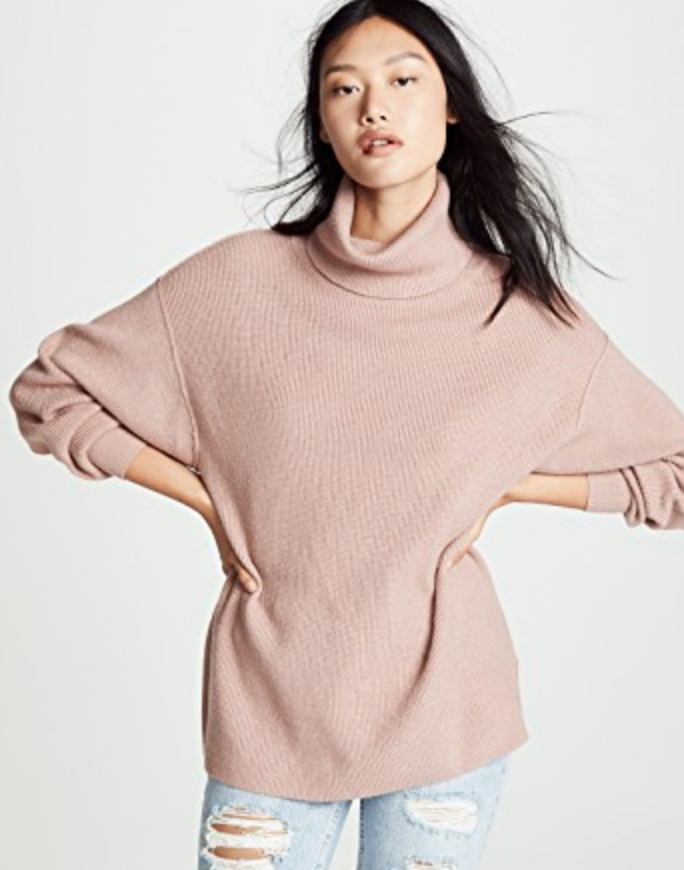 SOFTLY STRUCTURED TUNIC SWEATER