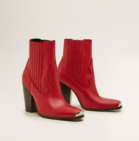 LEATHER COWBOY ANKLE BOOTS - WOMEN