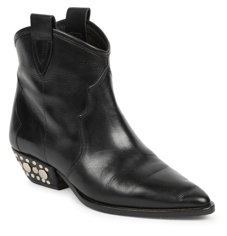 ISABEL MARANT - DAWYNA LEATHER WESTERN ANKLE BOOTS