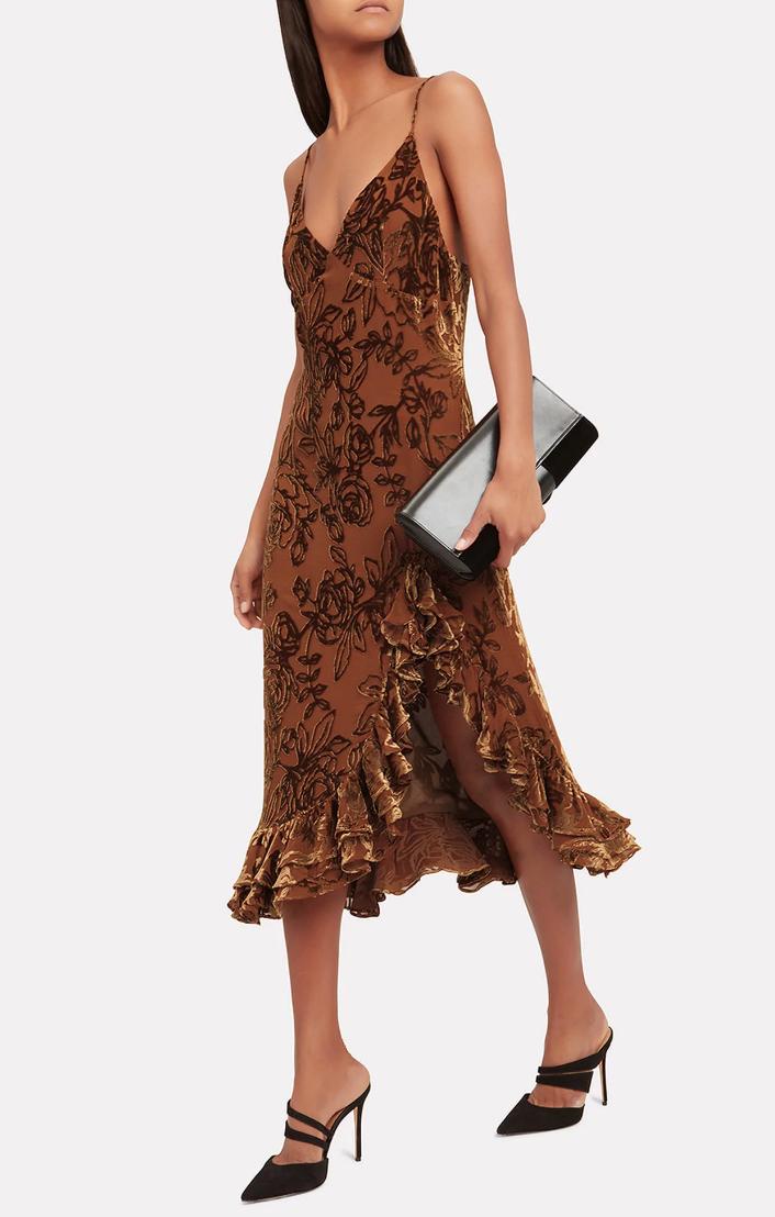 Caroline Constas Elvira Velvet Slip Dress