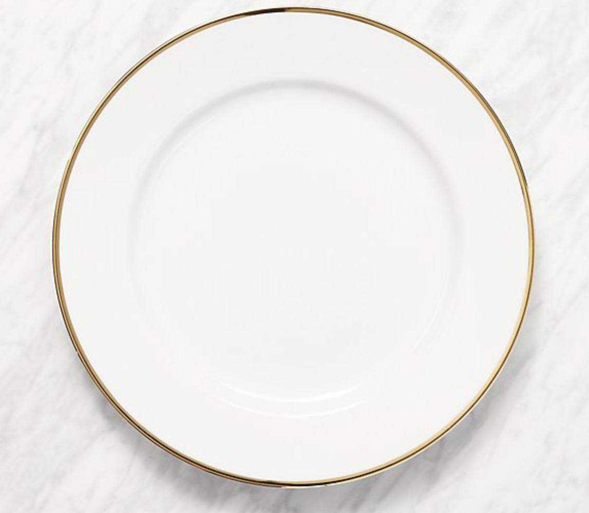 MAISON GOLD RIM DINNER PLATE