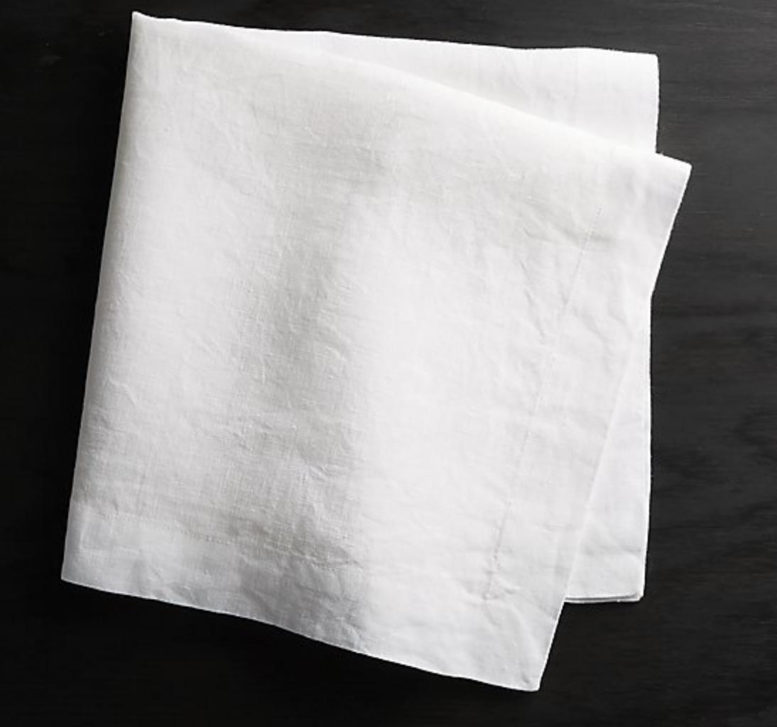 HELENA WHITE LINEN NAPKIN