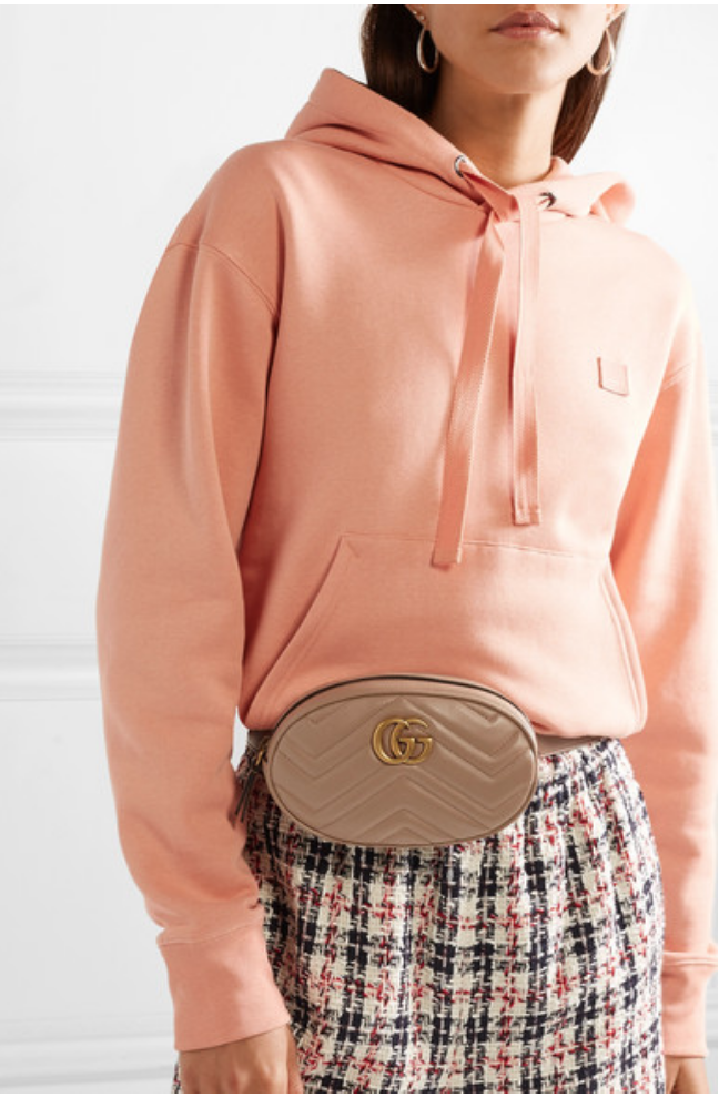 GUCCI - GG MARMONT QUILTED LEATHER BELT BAG - NEUTRAL