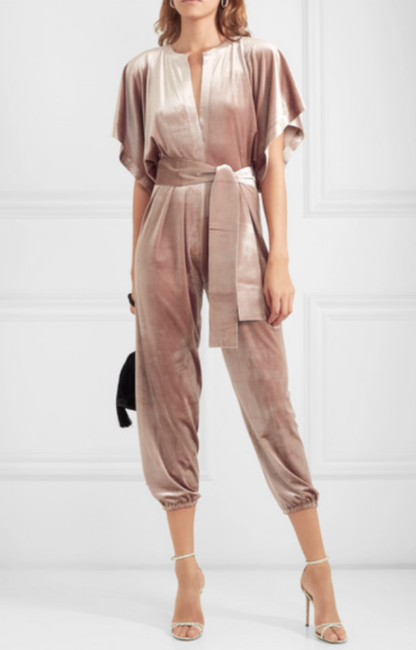 RECTANGLE VELVET JUMPSUIT