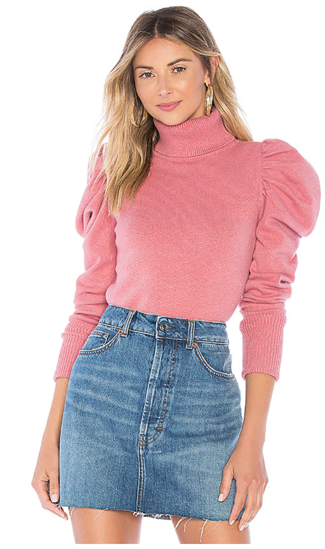 TULAROSA RAELYNN SWEATER IN MAUVE PINK