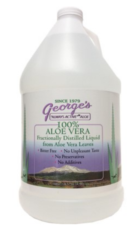 GEORGE'S ALWAYS ACTIVE ALOE 100% ALOE VERA LIQUID, 128 FL OZ