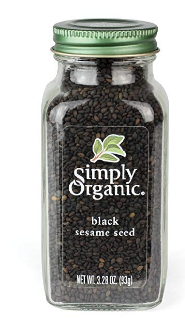 SIMPLY ORGANIC CERTIFIED BLACK WHOLE SESAME SEED, 3.28 OUNCE