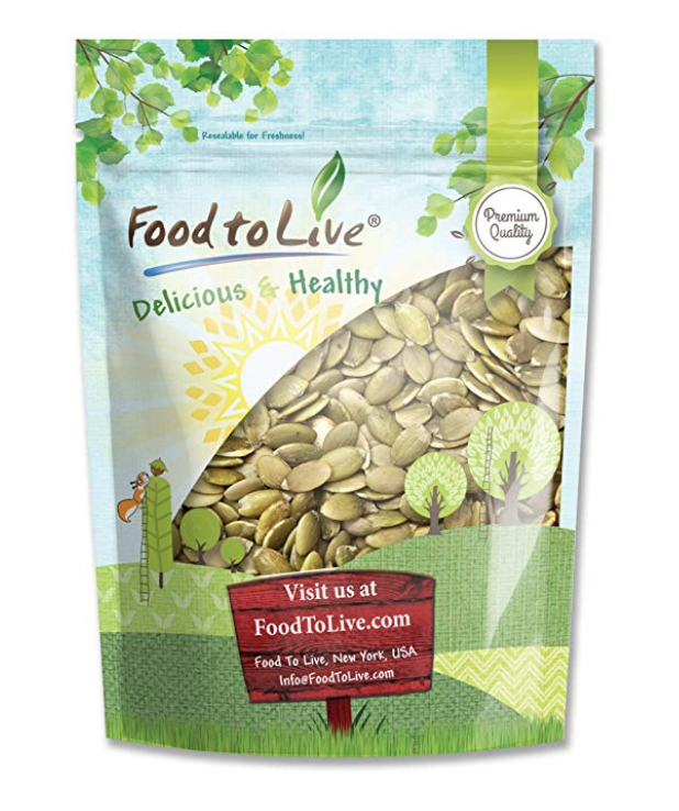 PEPITAS/PUMPKIN SEEDS BY FOOD TO LIVE (RAW, NO SHELL, KOSHER) — 1 POUND