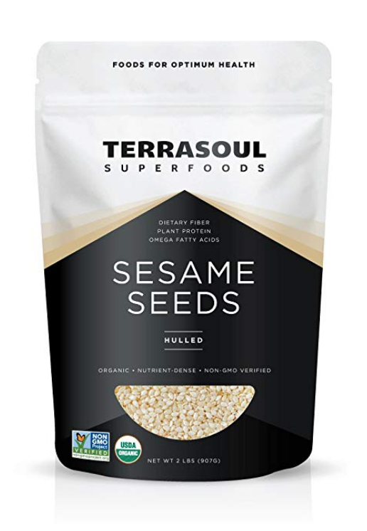 TERRASOUL SUPERFOODS ORGANIC HULLED SESAME SEEDS, 2 POUNDS