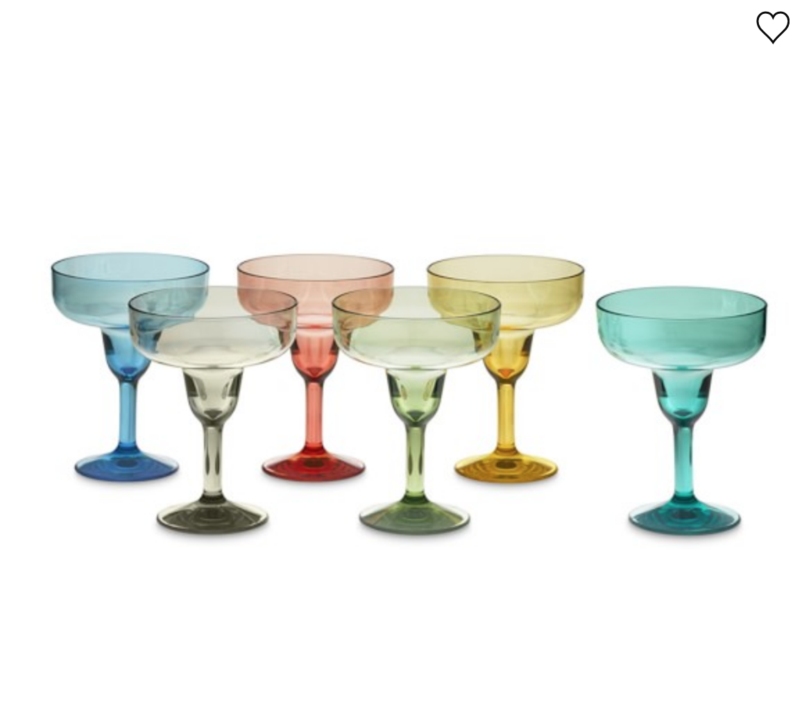 DURACLEAR® OUTDOOR MARGARITA GLASSES, SET OF 6, MULTI-COLOR