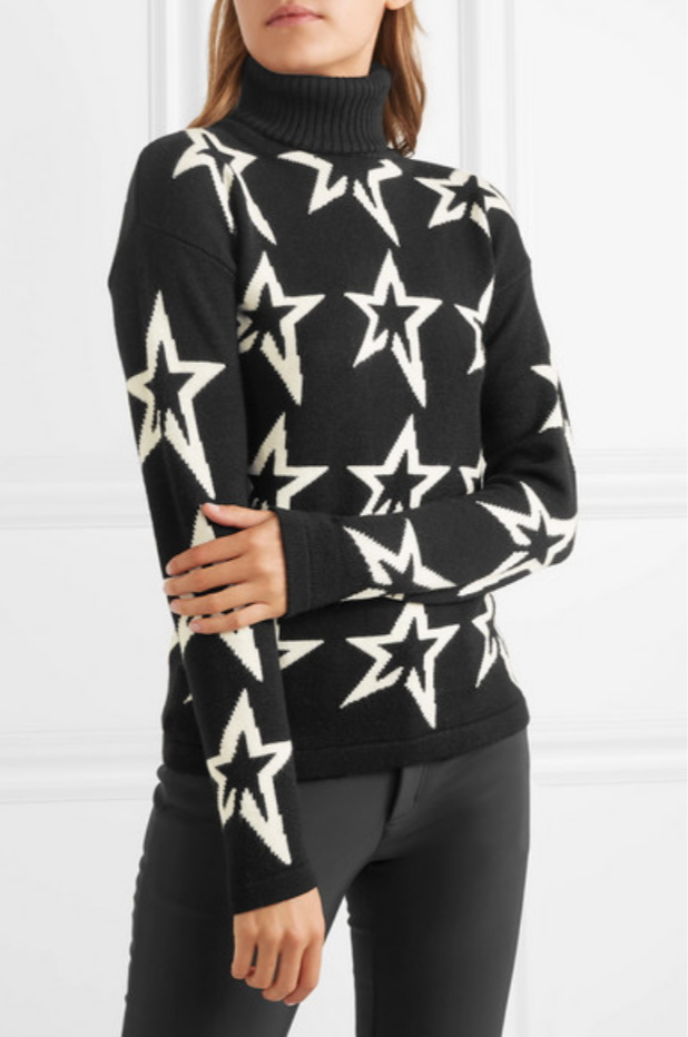 PERFECT MOMENT STARDUST INTARSIA MERINO WOOL TURTLENECK SWEATER ...