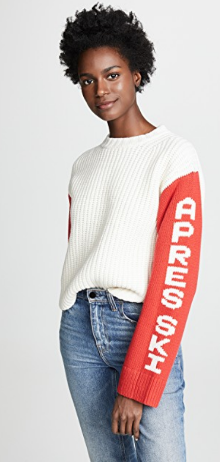 CROPPED APRES SKI SWEATER