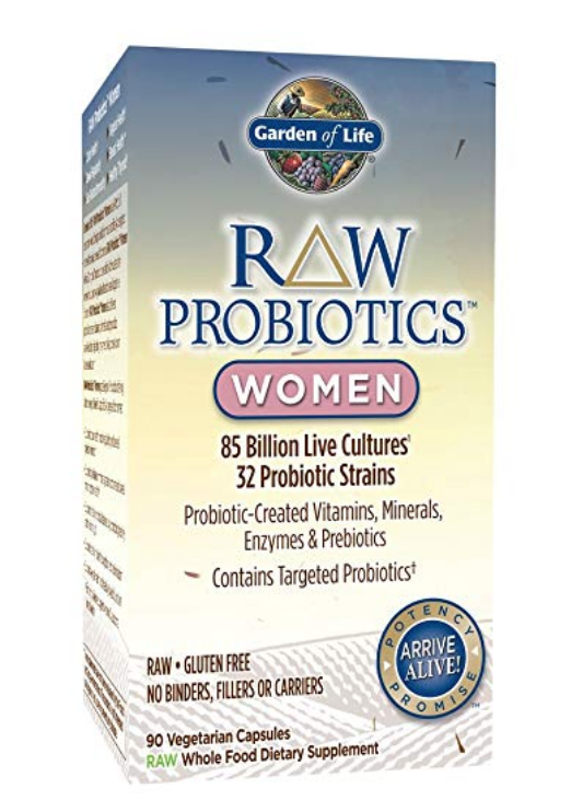 GARDEN OF LIFE - RAW PROBIOTICS WOMEN - ACIDOPHILUS LIVE CULTURES - PROBIOTIC-CREATED VITAMINS, M...