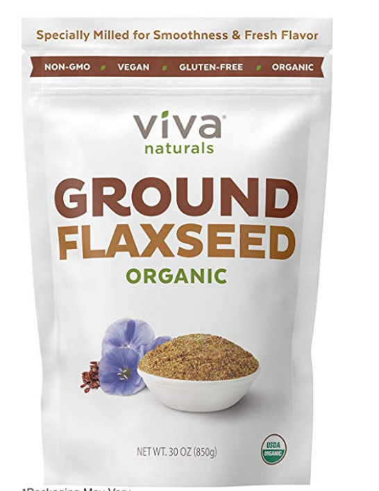 VIVA NATURALS - THE BEST ORGANIC GROUND FLAX SEED, PROPRIETARY COLD-MILLED TECHNOLOGY, 30 OZ (PAC...