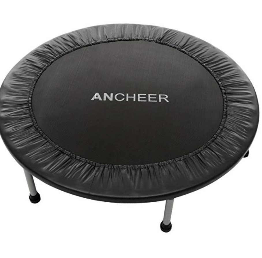 ANCHEER MAX LOAD 220LBS REBOUNDER TRAMPOLINE WITH SAFETY PAD FOR INDOOR GARDEN WORKOUT CARDIO TRA...