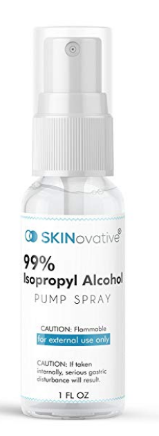 SKINOVATIVE 99% ISOPROPYL ALCOHOL SPRAY 1 OZ DERMA ROLLER STERILIZER - MICRONEEDLING CLEANING AND...