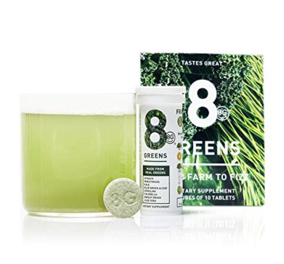 8GREENS EFFERVESCENT SUPER GREENS DIETARY SUPPLEMENT - 8 ESSENTIAL HEALTHY REAL GREENS IN ONE (6 ...