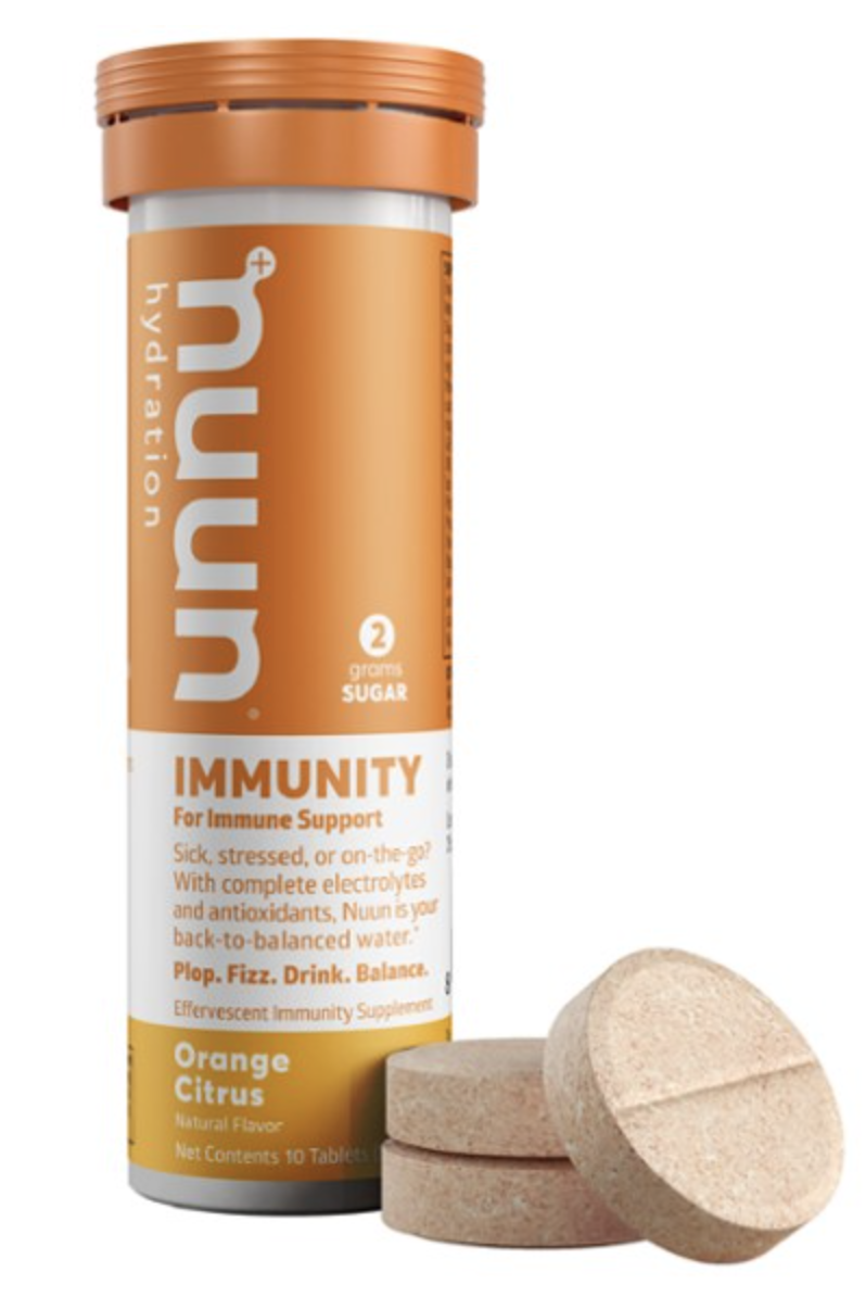 NUUN IMMUNITY FOR IMMUNE SYSTEM SUPPORT DRINK TABS - ORANGE CITRUS - 10CT