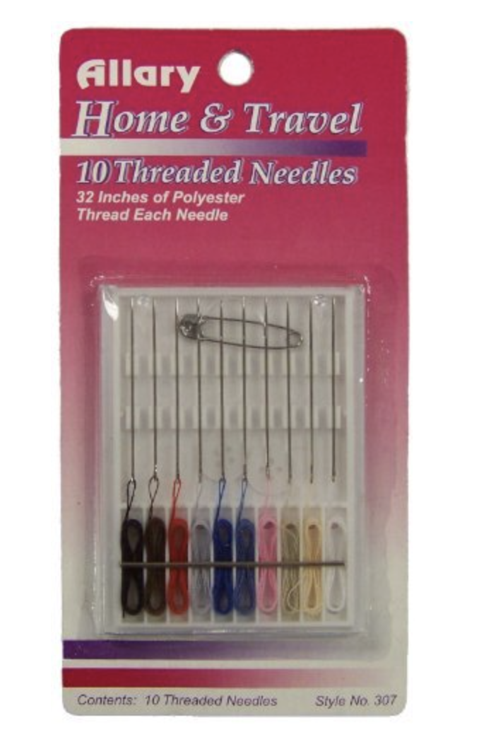 ALLARY 307 HOME AND TRAVEL 10 THREADED NEEDLES