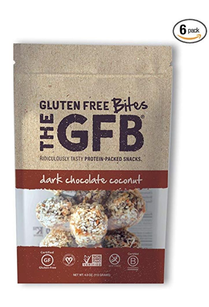 THE GFB PROTEIN BITES, DARK CHOCOLATE COCONUT, 4 OUNCE (PACK OF 6), GLUTEN FREE, NON GMO