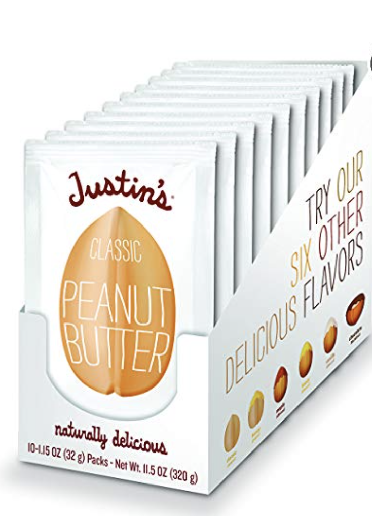 JUSTIN'S CLASSIC PEANUT BUTTER SQUEEZE PACKS, ONLY TWO INGREDIENTS, GLUTEN-FREE, NON-GMO, RESPONS...