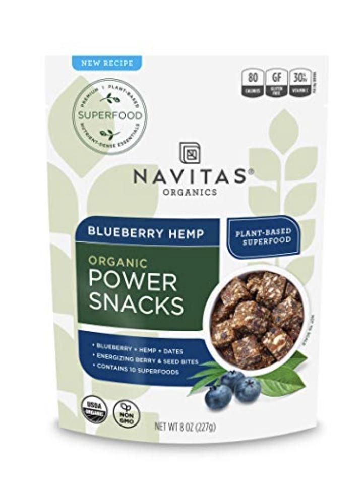 NAVITAS ORGANICS SUPERFOOD POWER SNACKS, BLUEBERRY HEMP, 8OZ. BAG — ORGANIC, NON-GMO, GLUTEN-FREE